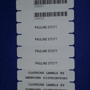 Heat Seal Clothing Labels